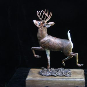 """Big Buck"" by James Carlson Gartin 11"" x 6"" x 15""H - L/E 30 - Bronze"