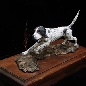 """English Setter"" by Jim Gartin 4"" x 6"" x 6""H -- L/E -10 -- Bronze"