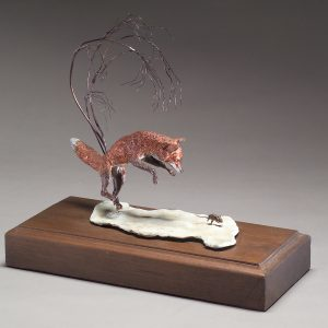 """Pounce of a Mouse"" by Jim Gartin 5"" x 10"" x 15""H - L/E -10 - Bronze"