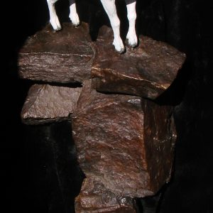 """Dall Sheep Ram"" Bronze Sculpture by Jim Gartin 5"" x 9"" x 18""H - L/E-30 - Bronze Sculpture"