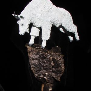 """Mountain Goat"" Bronze Sculpture by Jim Gartin 5"" x 9"" x 18"" L/E -30"