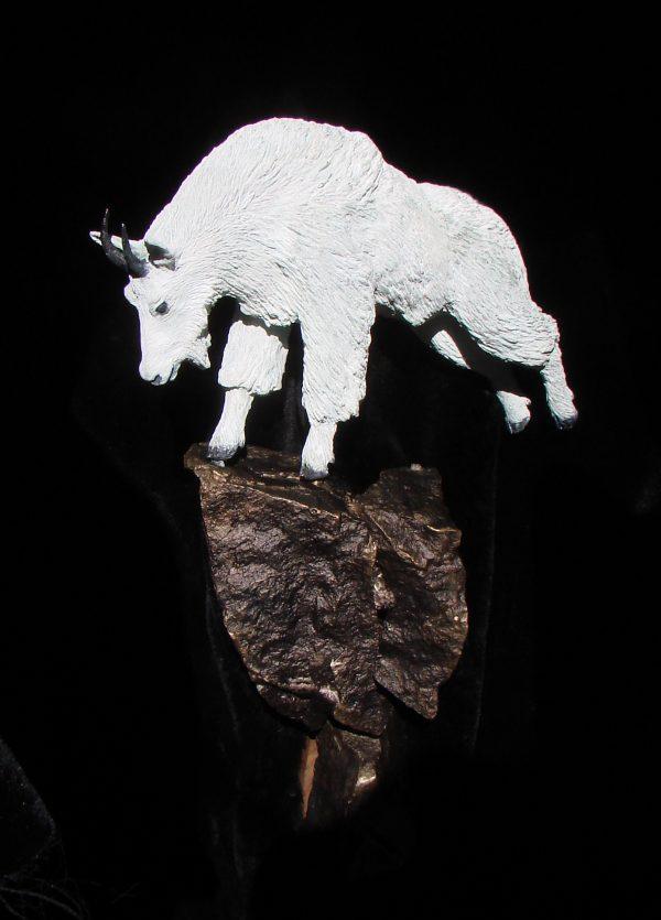 """""""Mountain Goat"""" Bronze Sculpture by Jim Gartin 5"""" x 9"""" x 18"""" L/E -30"""