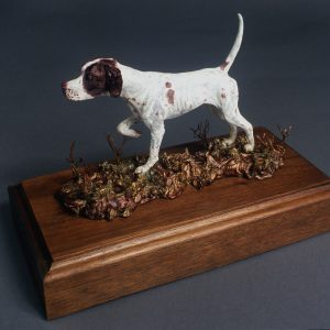 """On Point"" - English Pointer Bronze by Jim Gartin 4"" x 6"" x 6""H - L/E -10 - Bronze"