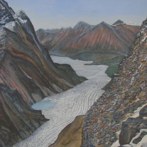 """Skilak Glacier"", Alaska by Jim Gartin Giclee Canvas Reproduction 36"" x 48"""