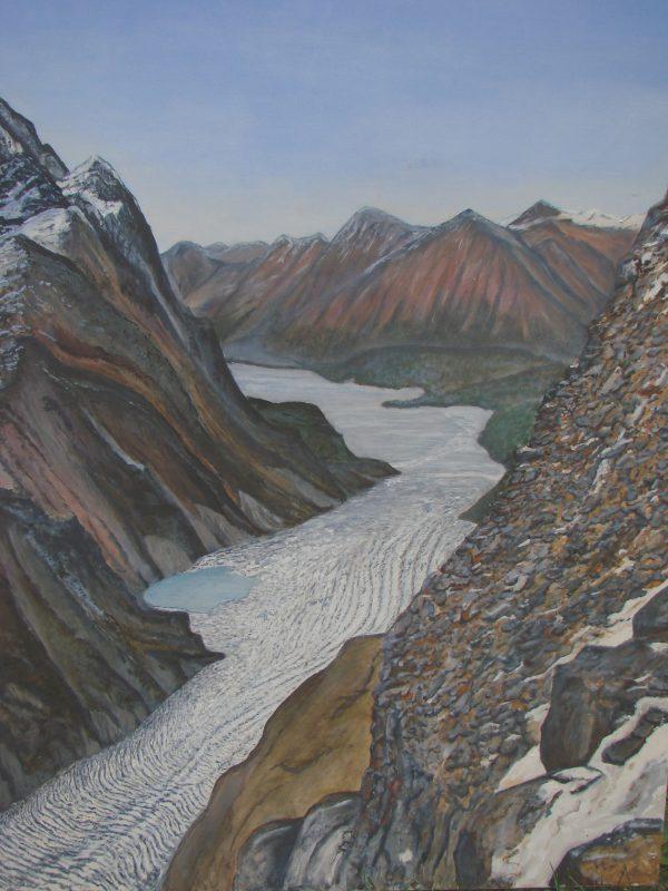 """Skilak Glacier"", Alaska by Jim Gartin Giclee Canvas Reproduction 36"" x 48"""