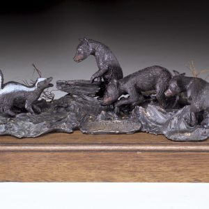 """Summer Smells II"" - Black Bear by Jim Gartin 8"" x 5""x 4""H - L/E -10 - Bronze Sculpture"