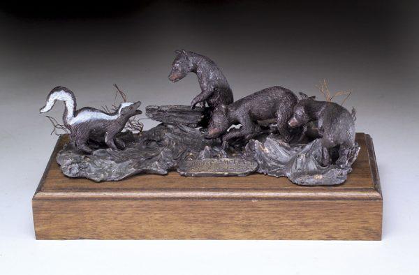 """""""Summer Smells II"""" - Black Bear by Jim Gartin 8"""" x 5""""x 4""""H - L/E -10 - Bronze Sculpture"""