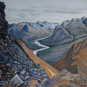 """The Terra Cotta Mountains"" by Jim Gartin Oil Painting 36"" x 48"" - Giclee on canvas"