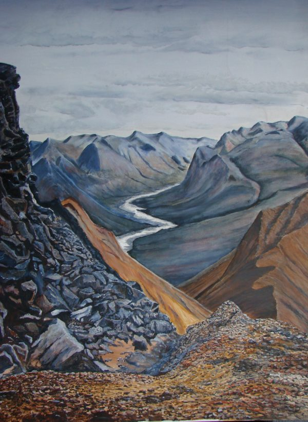 """""""The Terra Cotta Mountains"""" by Jim Gartin Oil Painting 36"""" x 48"""" - Giclee on canvas"""